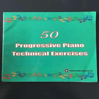 Yamaha book: 50 Progressive Piano Exercise