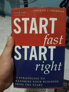 Book for sale - Start Fast, Start Right