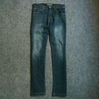 LOWRYS FARM MEN Blue Indigo Slimfit Stretch Jeans