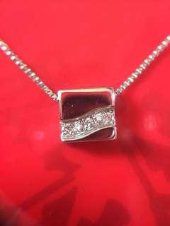 ⛔️✨ 鉑金天然鑽石頸鏈 頸錬套裝✨⛔️