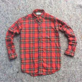 LL BEAN FREEPORT MAINE LONG SHIRT ORIGINAL FLANNEL