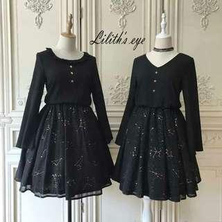 Lilith's eye limited editions Lolita galaxy star dress