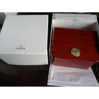 Omega 木錶盒 watch box 男裝 金錶款錶盒
