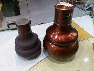 錫做茶葉罐兩個