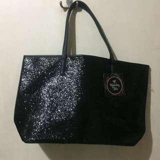 Glittered tote bag