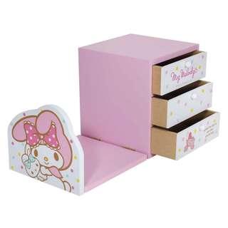 (現貨)美樂蒂粉彩書架三抽盒