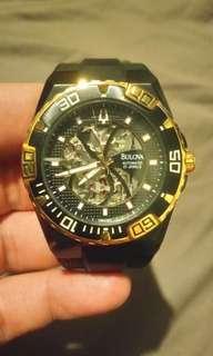 Bulova 98A109 Marine Star skeleton automatic watch