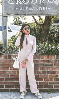 Pomelo keyhole light pink jumpsuit