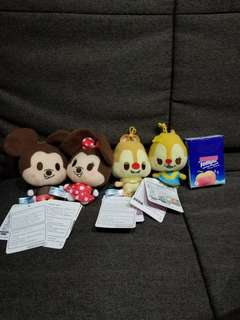 迪士尼 QQ可愛 米奇米妮 大鼻 松鼠