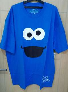 Kaos Biru Cookie Monster Universal Studio Singapore USS