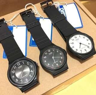 ❣全新行貨Casio 男女裝手錶 $160一隻。一年保養。盒加$20
