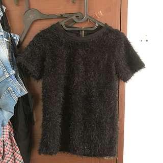 Fur top - Black