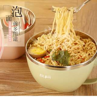 304 stainless steel instant noodle bowl with lid  【304不锈钢泡面碗带盖 1200ml】🍜 Pre-order