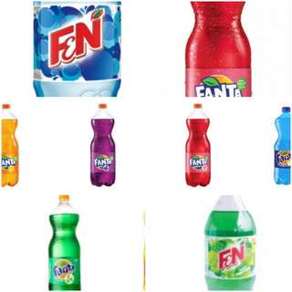 Fanta and F&N assorted 1.5litres drinks
