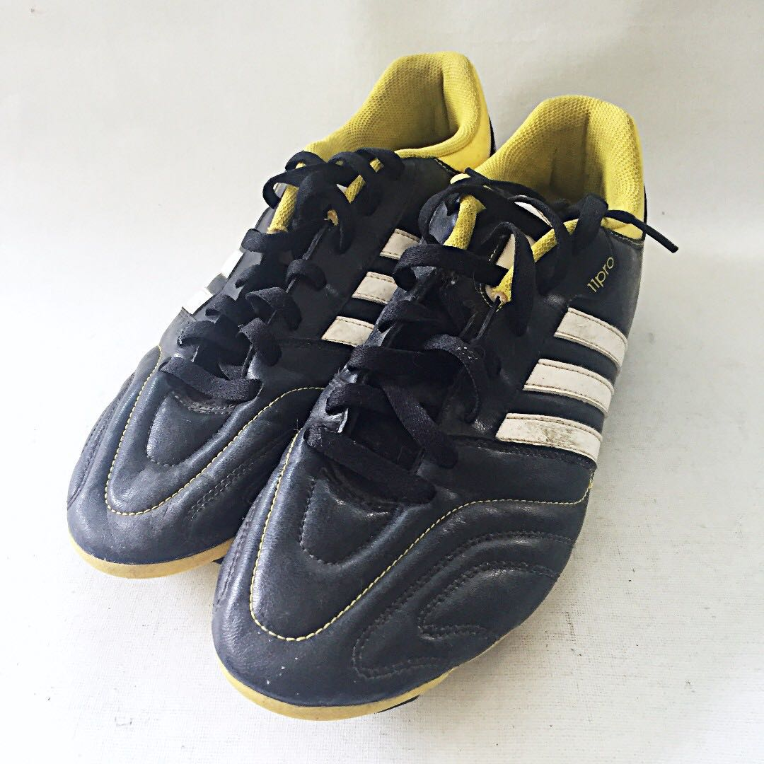 0e4ee7c214 ADIDAS 11QUESTRA Men s Black Yellow Soccer Cleats CLI037001 US 11 1 ...