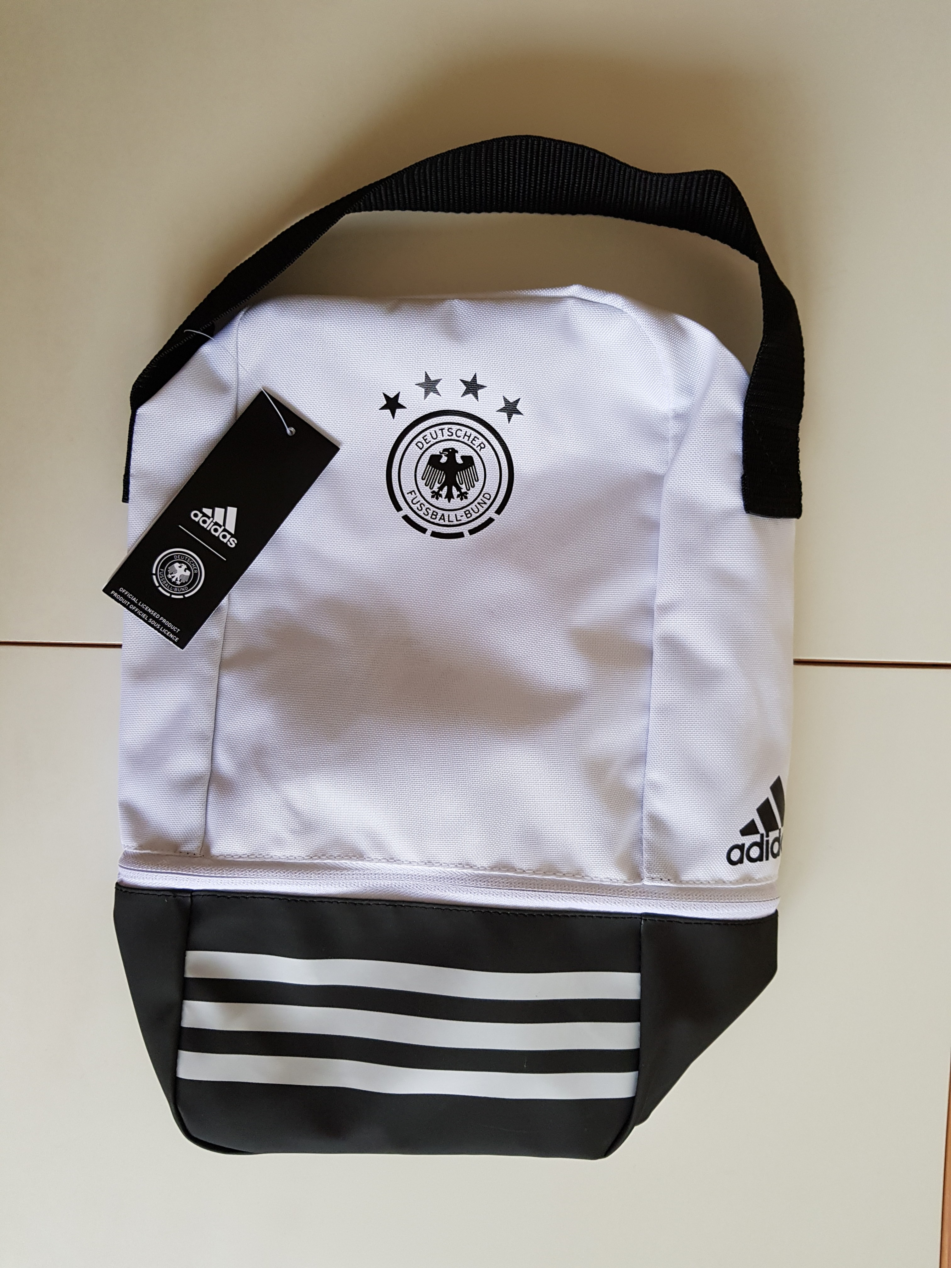 0ceacd3855 Adidas DFB shoebag, Sports, Sports Apparel on Carousell