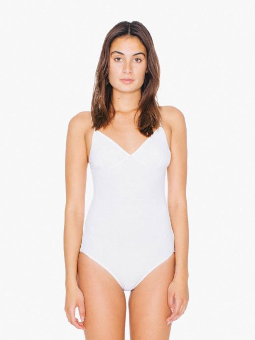 American Apparel White Sofia Bodysuit