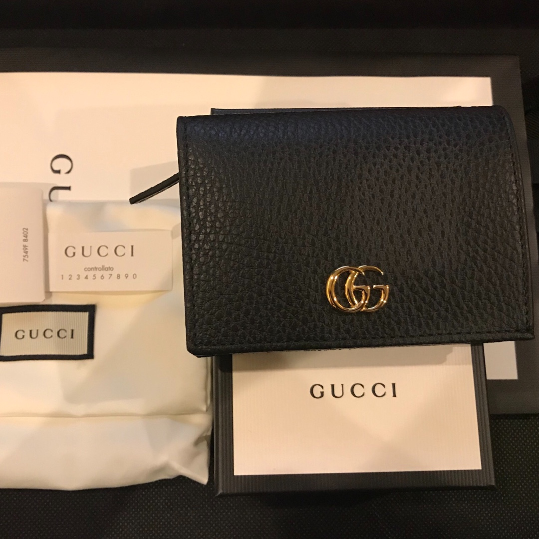 6f303248efe Authentic Gucci Double G Leather Card Case (can be used as small ...