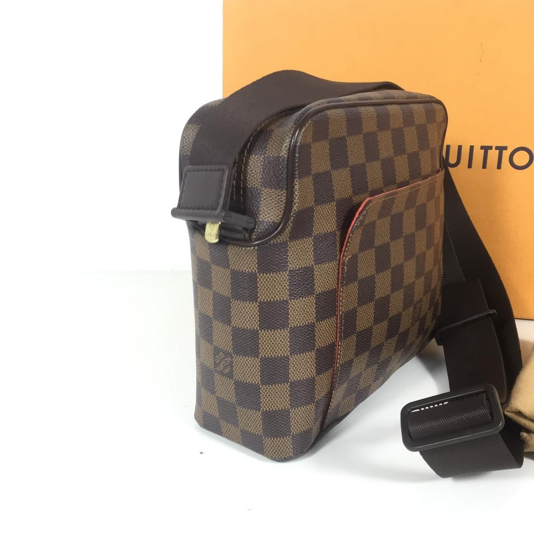 dd68362b2f1b AUTHENTIC LOUIS VUITTON OLAV SLING BAG DAMIER EBENE DATECODE LM0095  (LV2036)