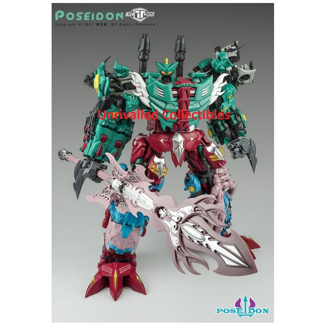 NEW Transformers TFC Poseidon P-001 Mentarazor Seawing Piranacon In Stock