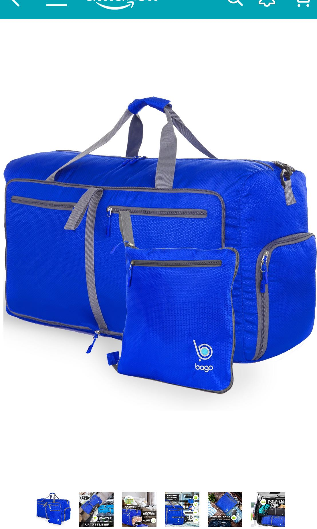 """BAGO travel duffel bag - foldable and expandable 27"""", Travel, Travel  Essentials, Luggage on Carousell 5717dadde8"""