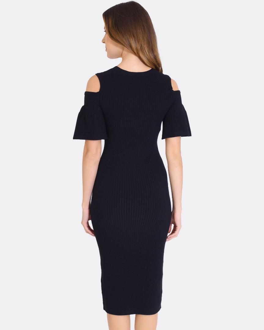 FORCAST Cut-out Fluted Dress