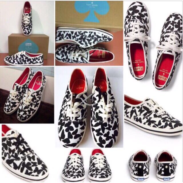 209325c303577 Brand New 100% Authentic/Original Keds x Kate Spade New York Black Champion  Butterfly Size 9