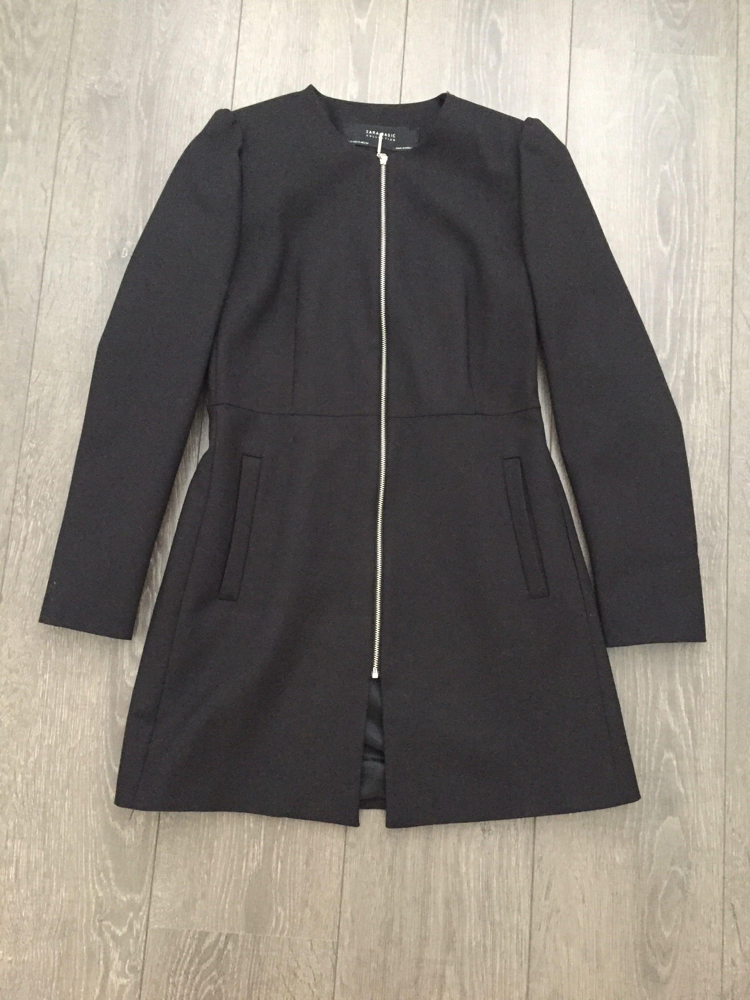 a12f13c2 Brand New Zara Puff Sleeves Coat Black Size XS, Women's Fashion ...