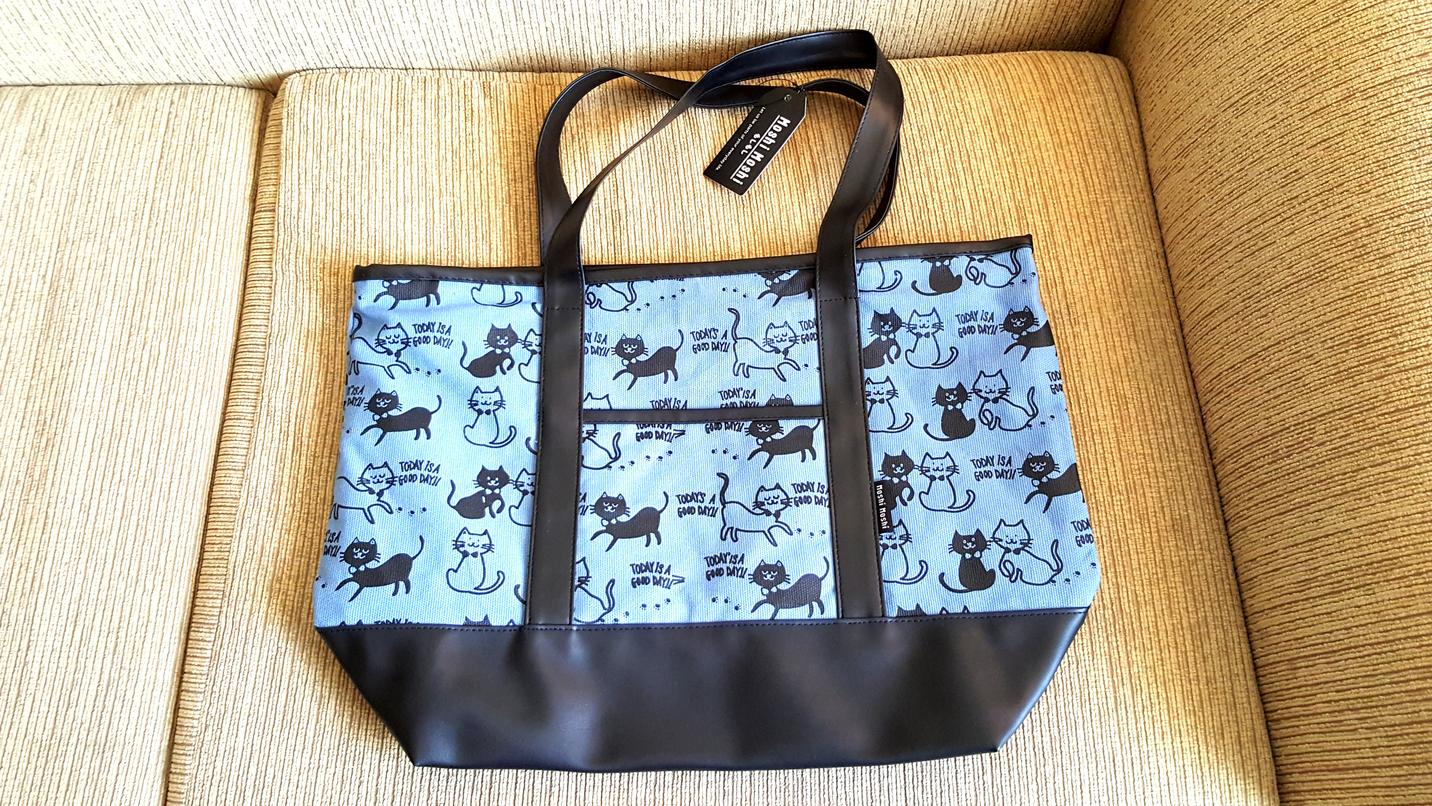 4fc0bb3e66 Japanese Black Cat Canvas Tote Bag (with Zip), Women's Fashion, Bags ...