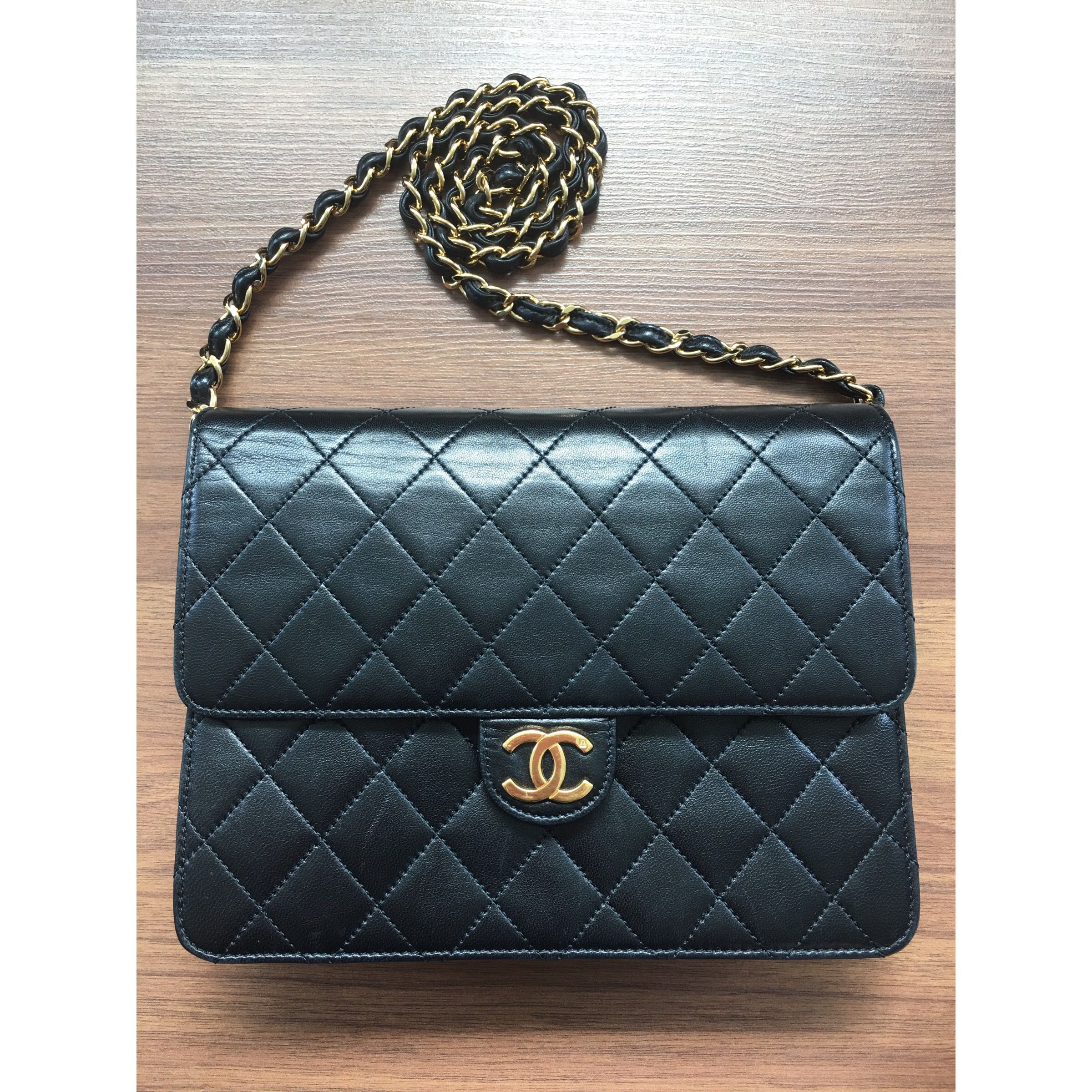 b9c7eb8555a2 Chanel Classic 24k Gold Flap Bag (Vintage)