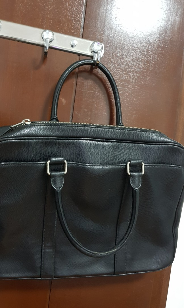 ac891123eb ... usa coach leather laptop bag black mens fashion bags wallets others on  carousell 06068 79736