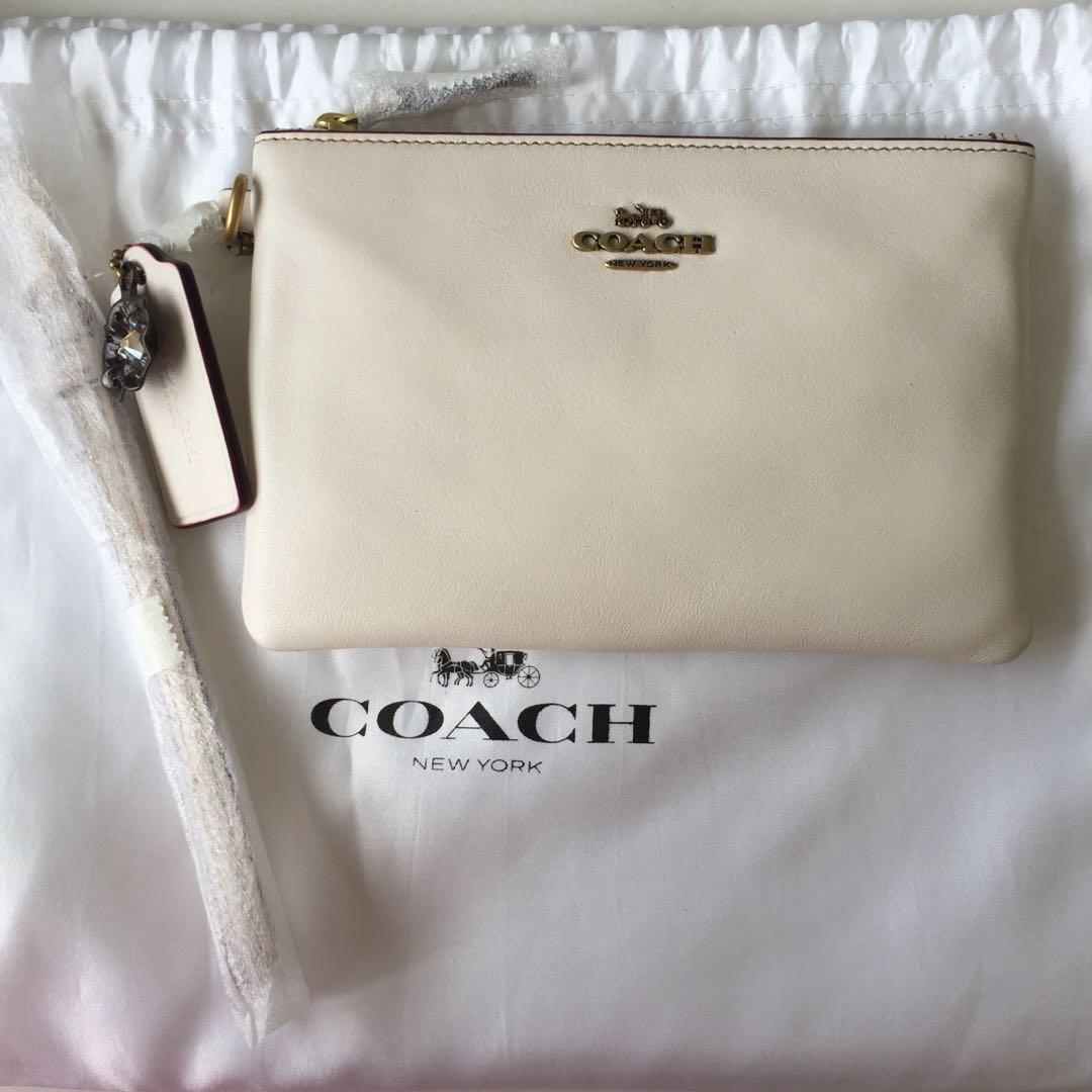 0caa9c44ea Coach Wristlet AUTHENTIC BRAND NEW [Off White / Chalk / Ivory ...