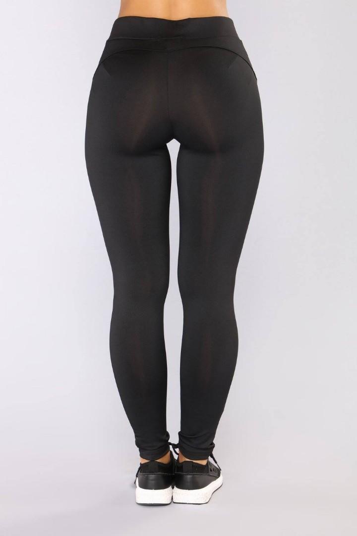 FASHIONNOVA Booty Shaping Active Leggings in Black