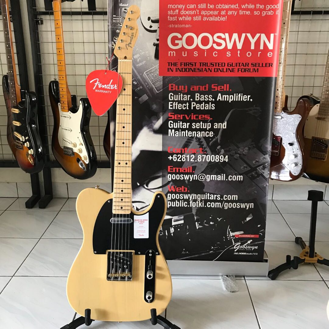 FENDER JAPAN HYBRID '50S TELECASTER OFF WHITE BLONDE, Music