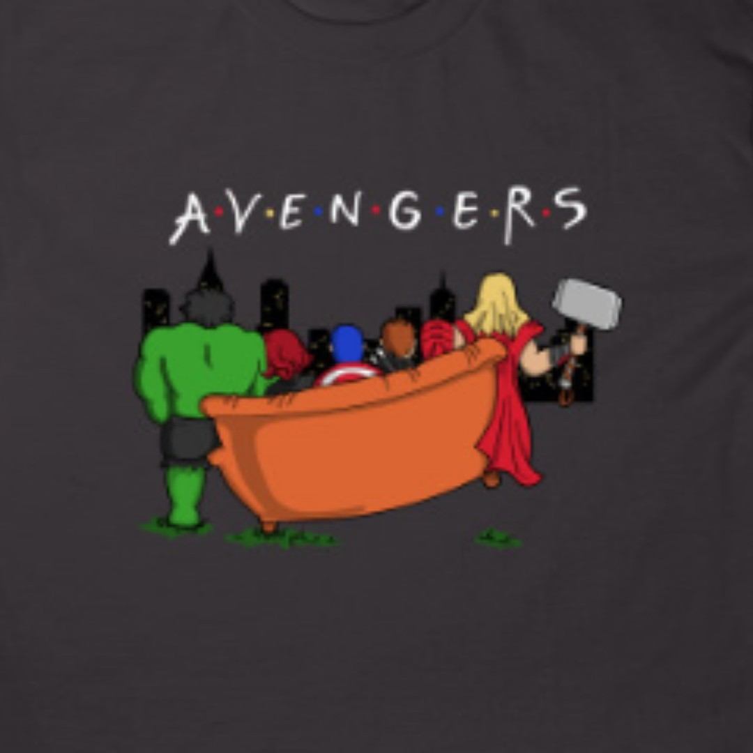 c587b6951 Friends Avengers Graphic design , Men's Fashion, Clothes, Tops on Carousell