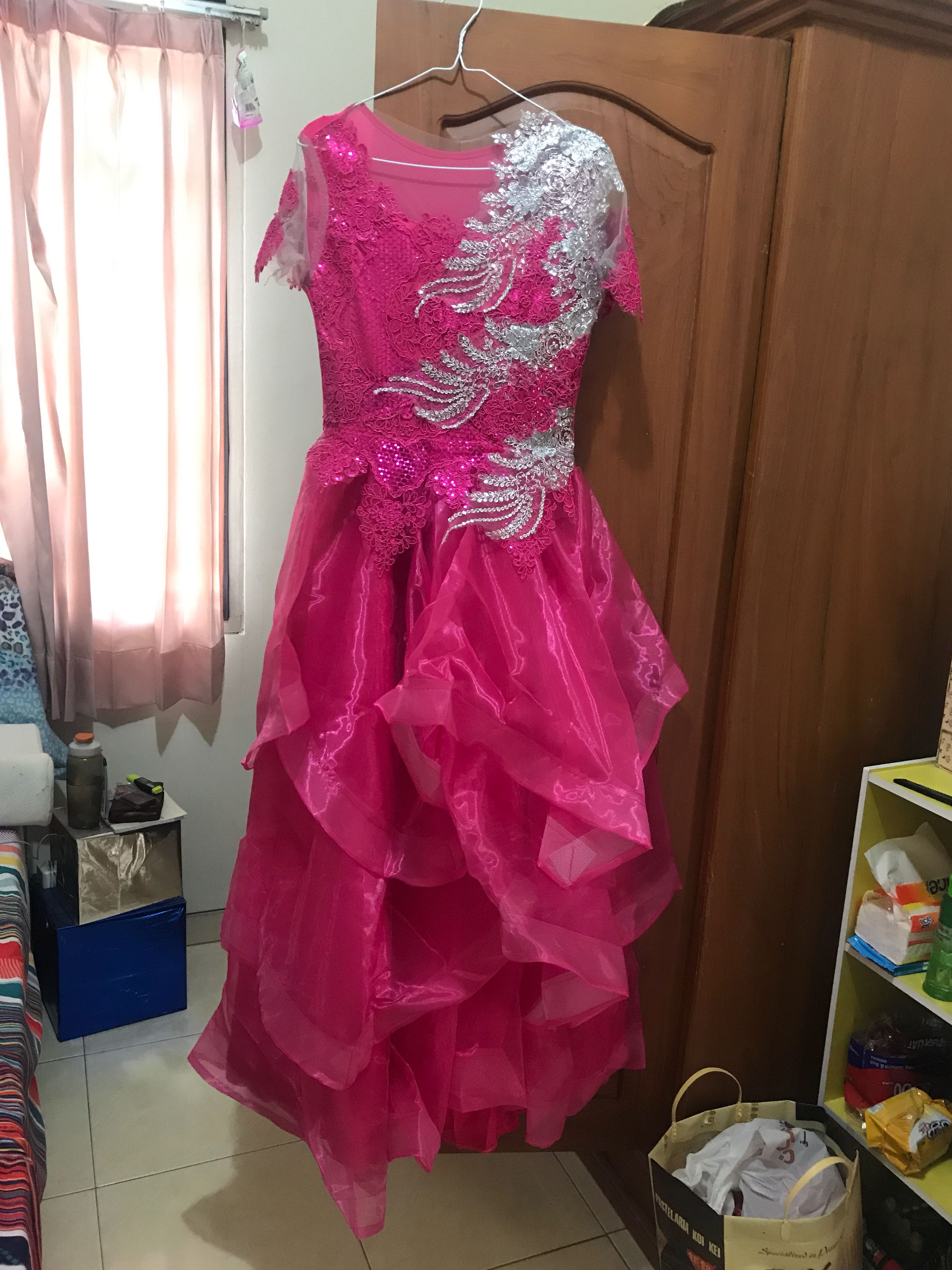 Gaun Pesta Pink Fanta Fushia Women S Fashion Women S Clothes