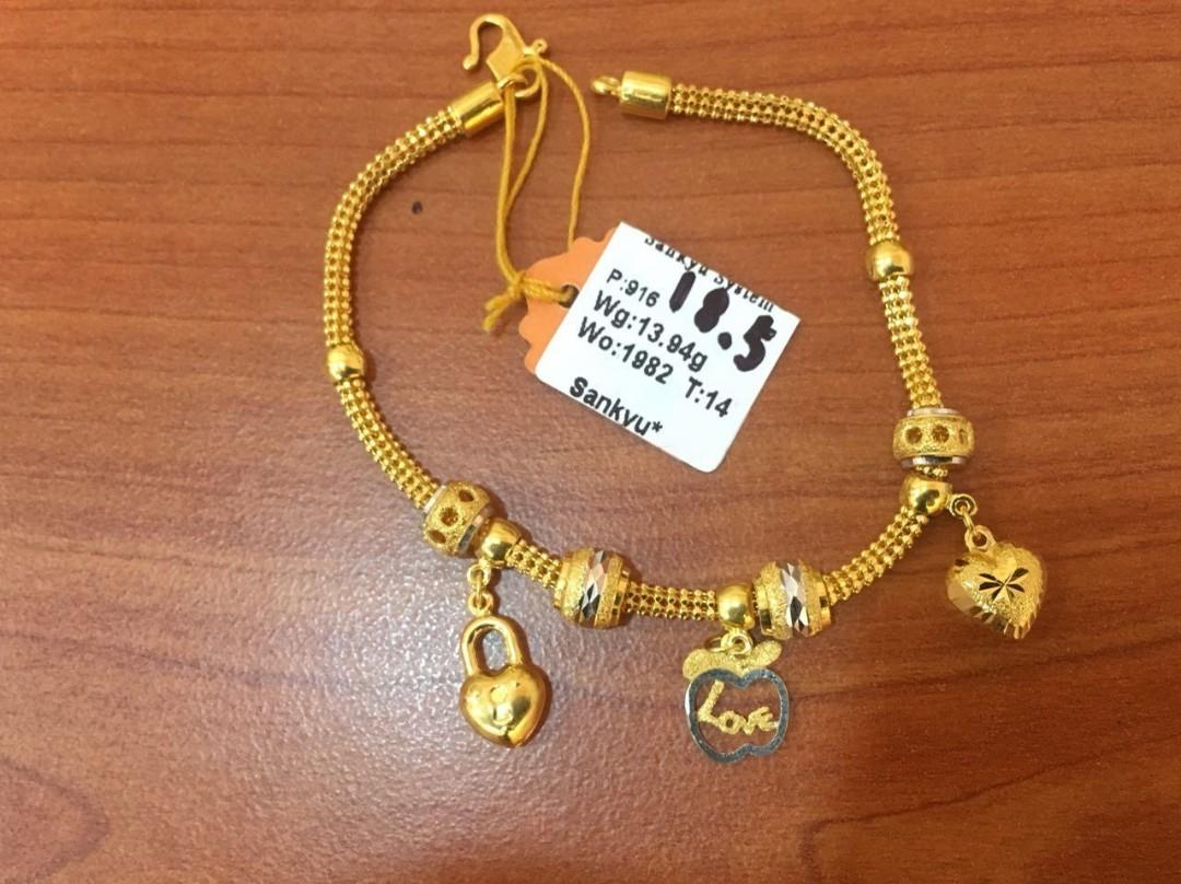 Gelang Emas 916 Pandora Women S Fashion Jewellery On Carousell