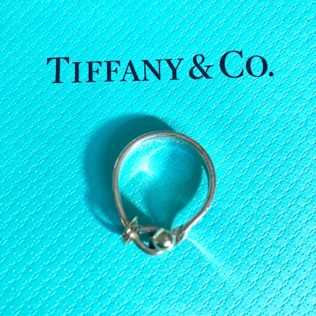 7f598adc6 Genuine Tiffany 18k Hook & Eye Ring, Women's Fashion, Jewellery ...