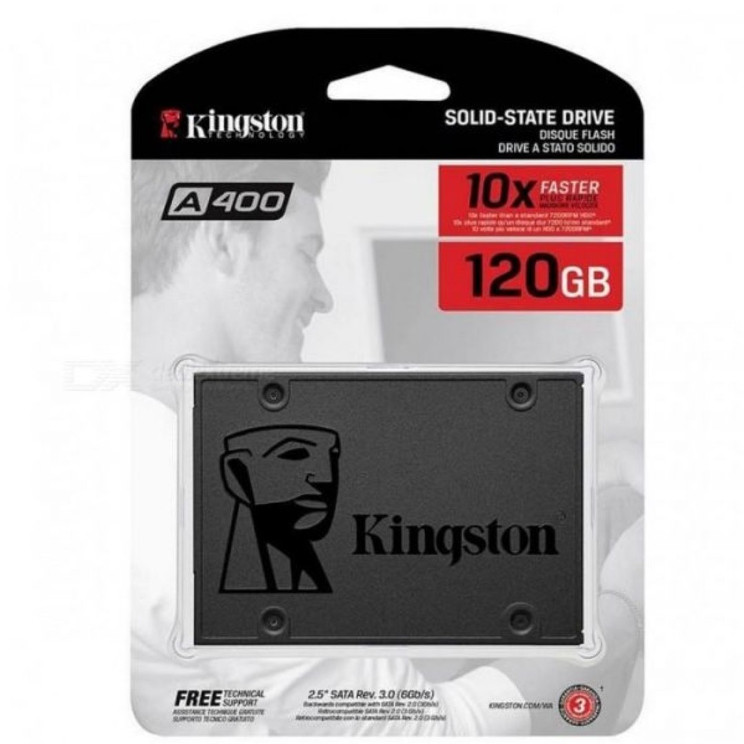 Kingston 120GB SSD SA400 Sata3 2.5