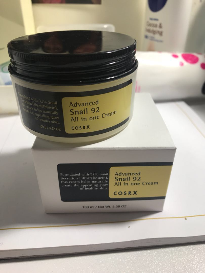Korean skincare, cosrx snail mucin