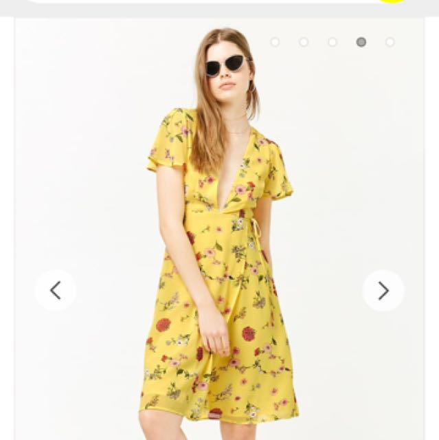 🌹Looking For This Yellow Dress Forever21 Floral Dress 1a0f9e901