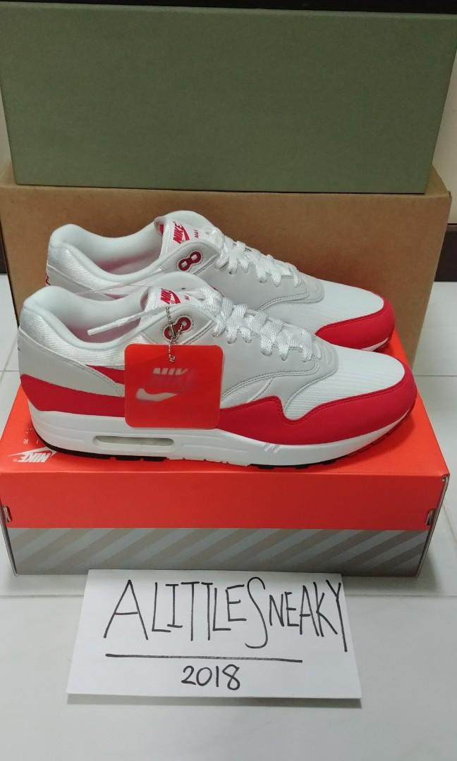 868ff2c0ebe379 Nike Air Max 1 Anniversary Red 908375-103 UK 10 US 11