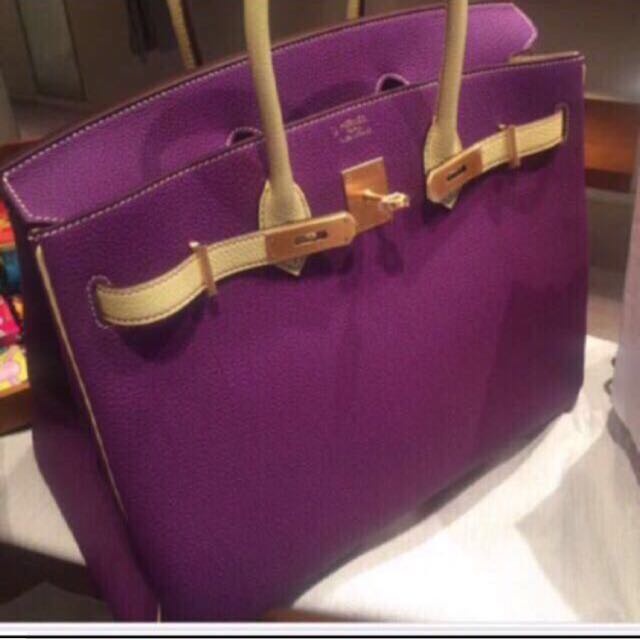 1e476d426a4c Only For VIPS! New Hermes HSS Birkin 35 In Anemone  Jaune Poussin ...