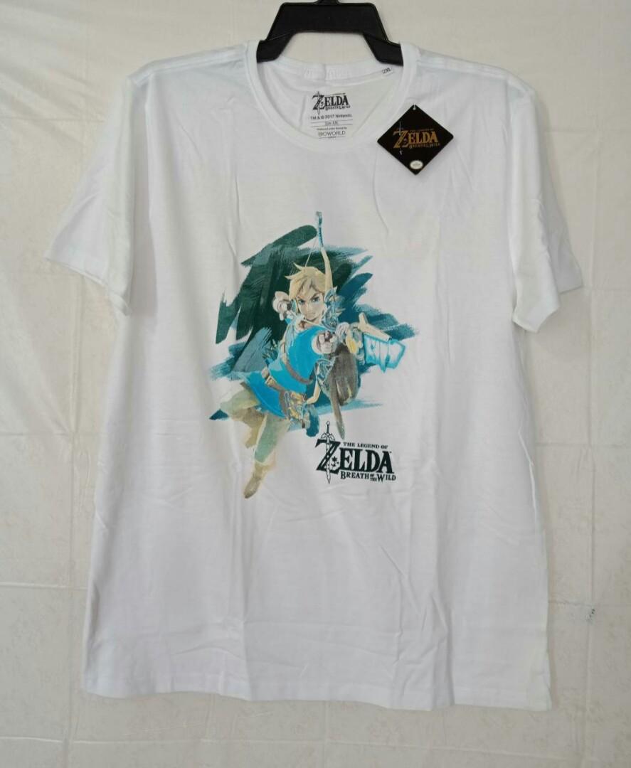 Original Nintendo Zelda Breath of the Wild White Shirt on