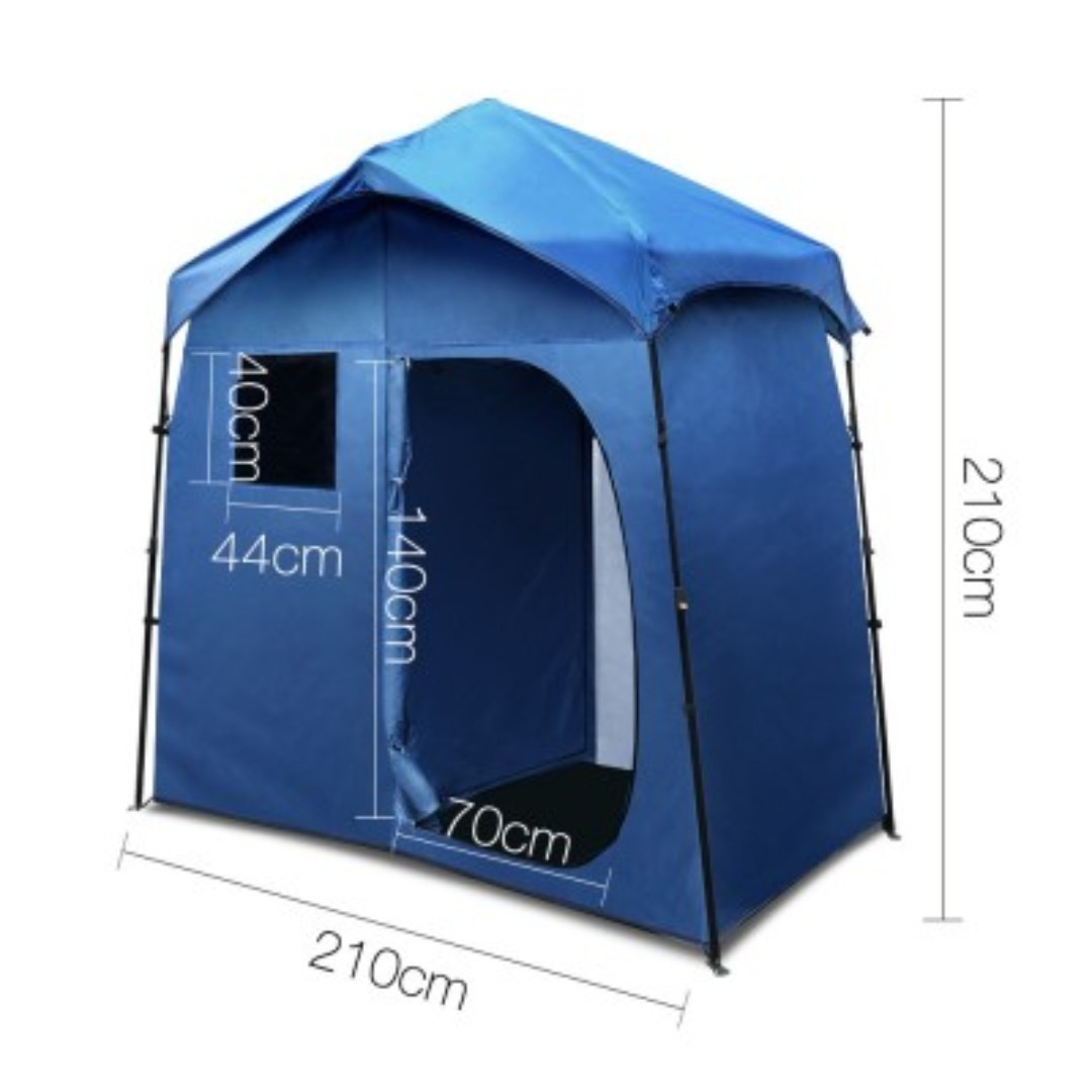 Portable Pop Up Outdoor Toilet and Change Room Tent - Blue
