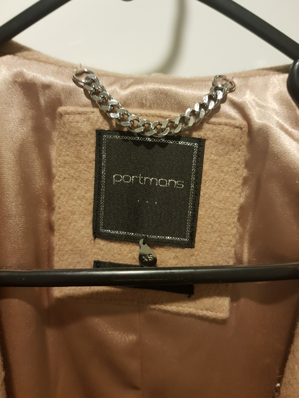 Portmans Aubrey Wrap Coat - size xs - Camel
