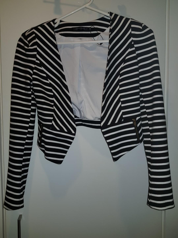 Portmans black and white Stripe Jacket - Size 6