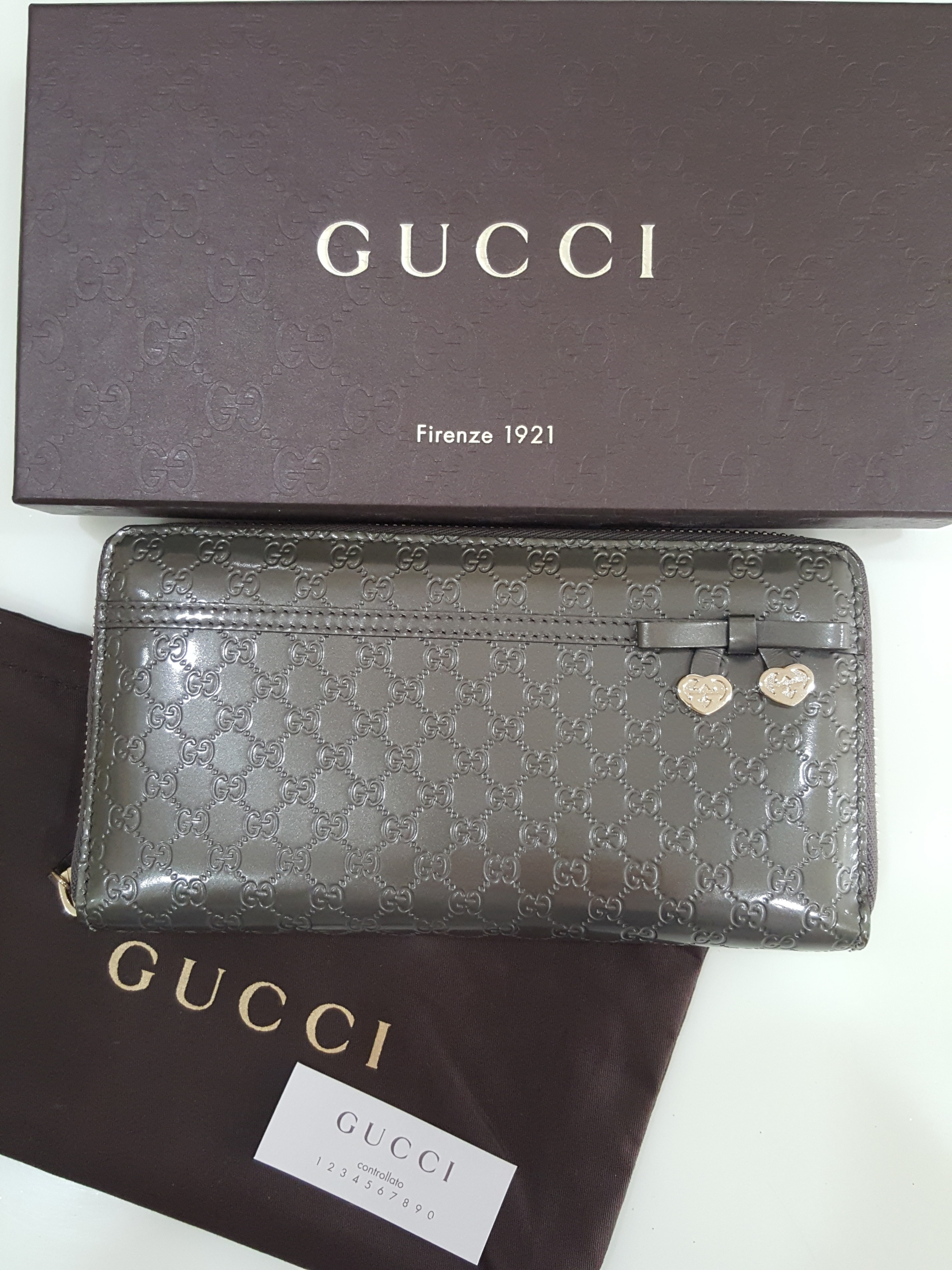 3c781330f002 Pre-owned Gucci Candy Microguccissima Bronze Leather Long Wallet ...