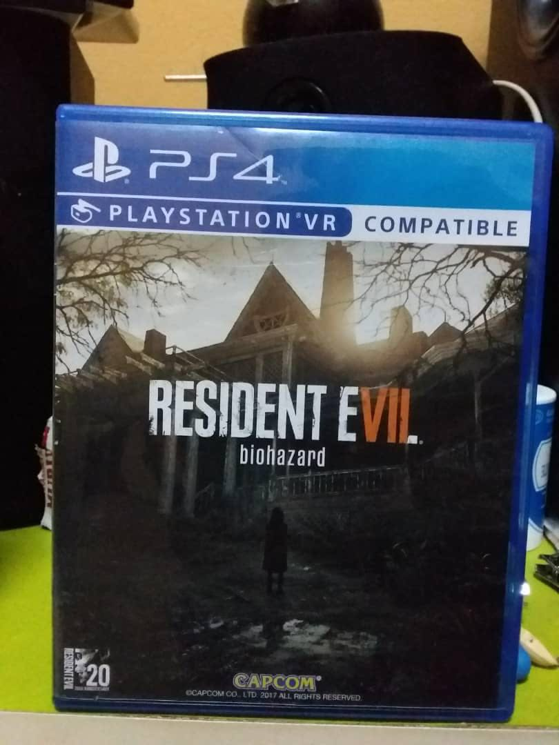Ps4 Game Resident Evil 7 Biohazard Video Gaming Games On Photo