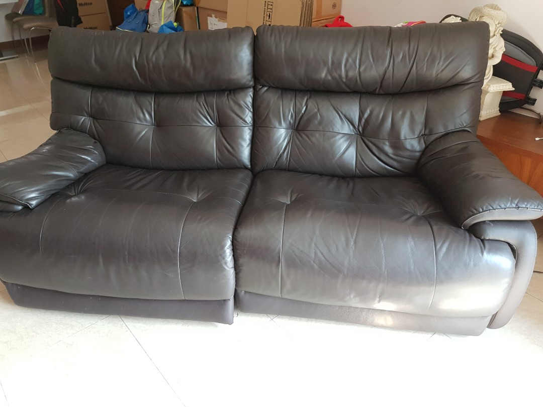 Recliner Leather Sofa Neg Furniture Sofas On Carousell